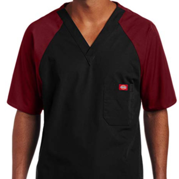46bfa1290c6 Dickies Shirts | Eds Men Single Pocket Raglan Scrub Top | Poshmark